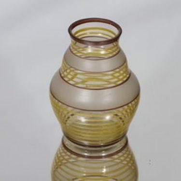 Kauklahden lasi maljakko, käsinmaalattu, suunnittelija , käsinmaalattu