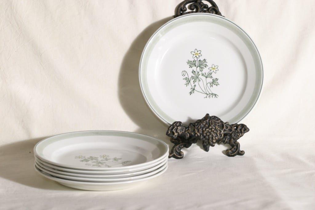 Arabia Suvi lautaset, matalat, 6 kpl, suunnittelija , matalat, käsinmaalattu