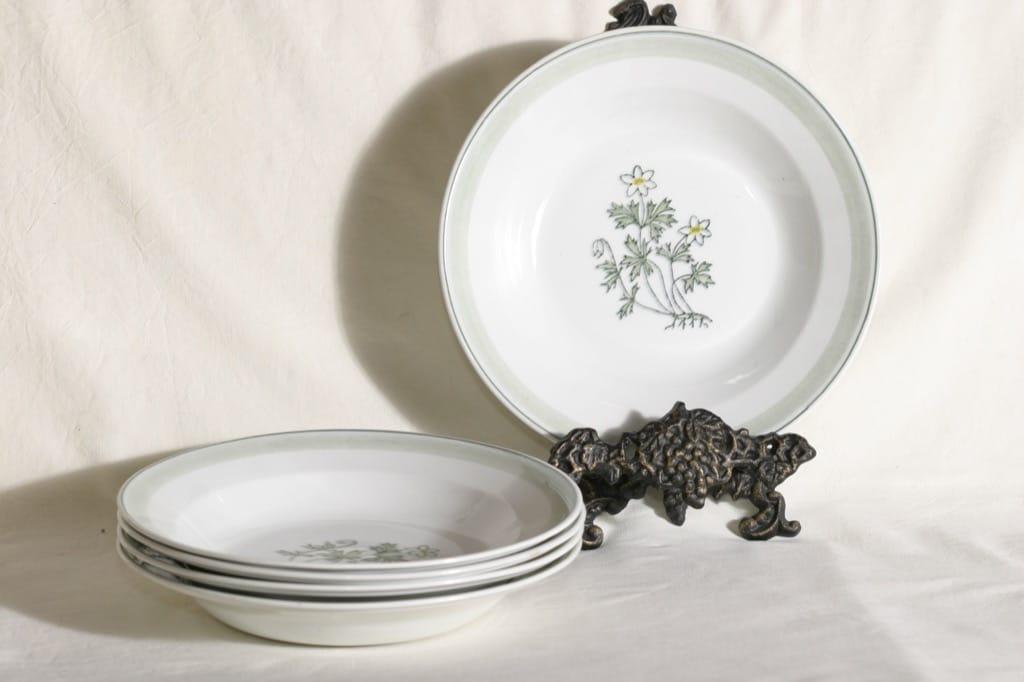 Arabia Suvi lautaset, syvät, 5 kpl, suunnittelija , syvät, käsinmaalattu