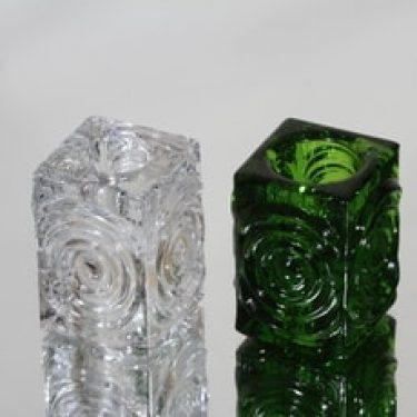 Riihimäen lasi Rengas kynttilänjalat, eri värejä, 2 kpl, suunnittelija Tamara Aladin, pieni