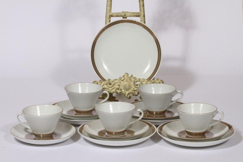 Arabia Lempi coffee cup and saucers, 5pcs, Raija Uosikkinen
