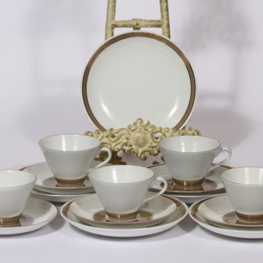 Arabia Lempi coffee cup and saucers, 5pcs, Raija Uosikkinen
