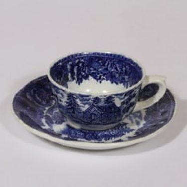 Arabia Maisema kahvikuppi, sininen, suunnittelija , kuparipainokoriste