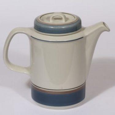 Arabia Uhtua kahvikaadin, 1.35 l, suunnittelija Inkeri Leivo, 1.35 l, raitakoriste