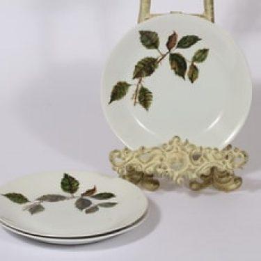 Arabia Ruusu leivoslautaset, 2 kpl, suunnittelija Anneli Qveflander, serikuva, kukka-aihe