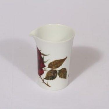 Arabia Ruusu kermakko, suunnittelija Anneli Qveflander, serikuva, kukka-aihe