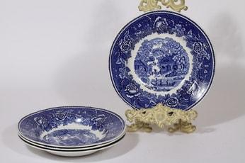 Arabia Maisema lautaset, syvä, 4 kpl, suunnittelija , syvä, kuparipainokoriste