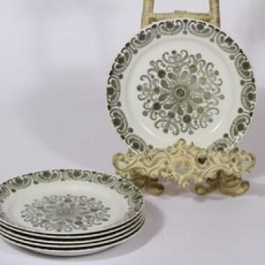 Arabia Sampo lautaset, 6 kpl, suunnittelija Raija Uosikkinen, pieni, serikuva
