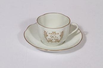 Arabia Arabia 90 vuotta kahvikuppi, suunnittelija , painettu koriste