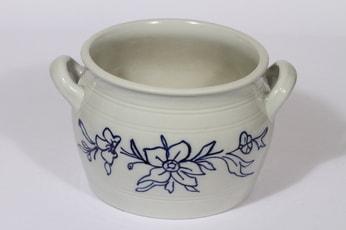 Arabia kukkakuvio ruukku, 4 l, suunnittelija , 4 l, suuri, kobolttimaalattu