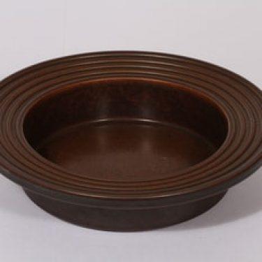 Arabia Ruska tuhka-astia, ruskea lasite, suunnittelija Ulla Procope, suuri