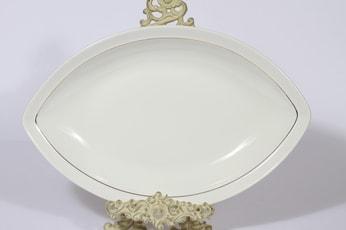 Arabia Harlekin Gold kulho, suunnittelija Inkeri Leivo, kullattu koriste