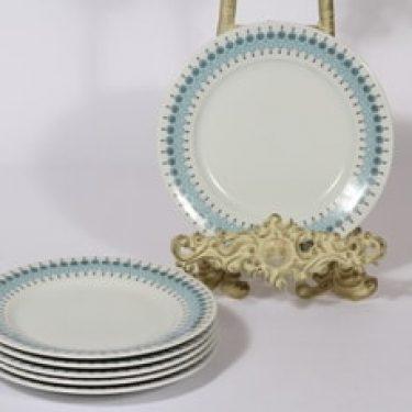 Arabia Louhi lautaset, 6 kpl, suunnittelija Raija Uosikkinen, pieni, serikuva