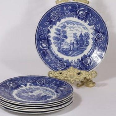 Arabia Maisema lautaset, matala, 7 kpl, suunnittelija , matala, kuparipainokoriste