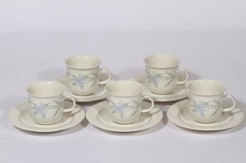Arabia Sinikello coffee cups, 5 pcs, Esteri Tomula