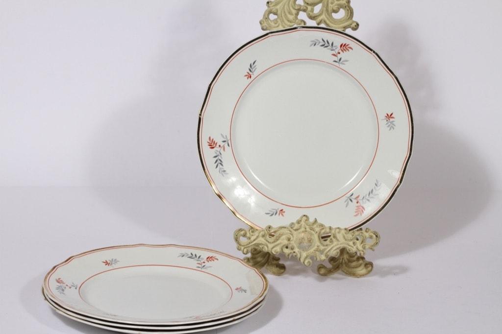 Arabia koriste 4028 lautaset, matala, 4 kpl, suunnittelija , matala, lehtiaihe