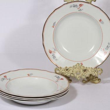 Arabia koriste 4028 lautaset, syvä, 5 kpl, suunnittelija , syvä, lehtiaihe