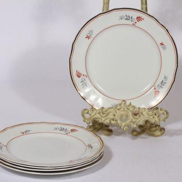 Arabia koriste 4028 lautaset, 5 kpl, suunnittelija , lehtiaihe