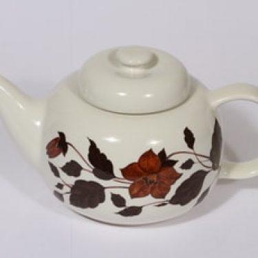 Arabia Tea for two teekaadin, ruskea, suunnittelija Gunvor Olin-Grönqvist, serikuva