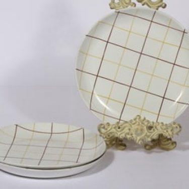 Arabia Verkko lautaset, matala, 3 kpl, suunnittelija Raija Uosikkinen, matala, viivakoriste
