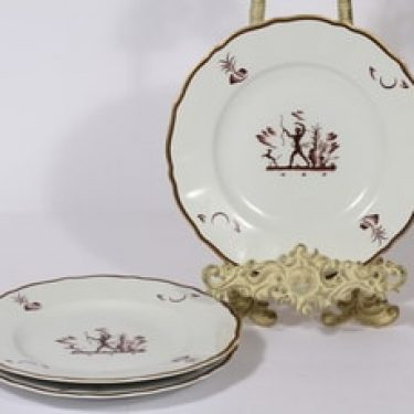 Arabia Diana lautaset, 3 kpl, suunnittelija Einar Forseth, siirtokuva, art deco