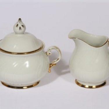Arabia Kultakoriste sokerikko ja kermakko, suunnittelija , kultakoriste