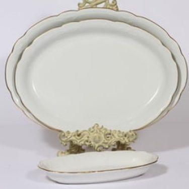 Arabia Siro vadit, valkoinen, 3 kpl, suunnittelija , kukka-aihe