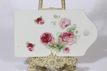 Arabia B talouslevy, kukkakuvio, suunnittelija , kukkakuvio, siirtokuva, ruusukuvio