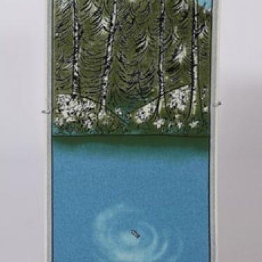 Arabia koristelaatta, Ihminen ja luonto Kala, suunnittelija Heljä Liukko-Sundström, Ihminen ja luonto Kala, suuri, serikuva