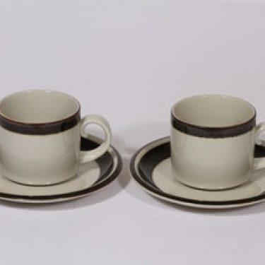 Arabia Karelia teekupit, 2 kpl, suunnittelija Anja Jaatinen-Winquist, raitakoriste