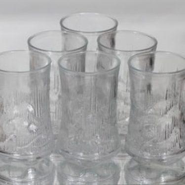 Riihimäen lasi Revontulet lasit, 30 cl, 6 kpl, suunnittelija Erkkitapio Siiroinen, 30 cl