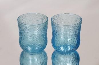 Nuutajärvi Fauna lasit, 20 cl, 2 kpl, suunnittelija Oiva Toikka, 20 cl