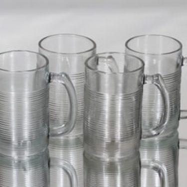 Riihimäen lasi Sinappituoppi lasituopit, 20 cl, 4 kpl, suunnittelija Tapio Wirkkala, 20 cl