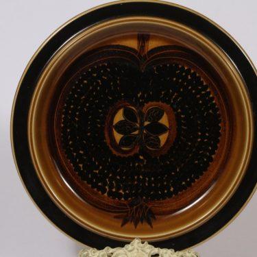 Arabia Fructus vati, suuri, suunnittelija Gunvor Olin-Grönqvist, suuri, käsinmaalattu, omena-aihe