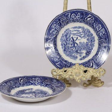 Arabia Maisema soup plates, 2 pcs, copper ornament