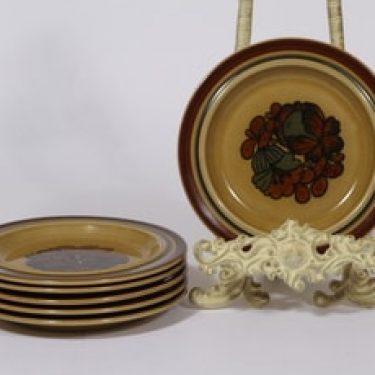 Arabia Otso lautaset, 6 kpl, suunnittelija Raija Uosikkinen, pieni, erikoiskoriste, retro