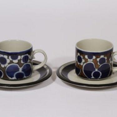 Arabia Saara kahvikupit, 2 kpl, suunnittelija Anja Jaatinen-Winquist, erikoiskoriste, retro