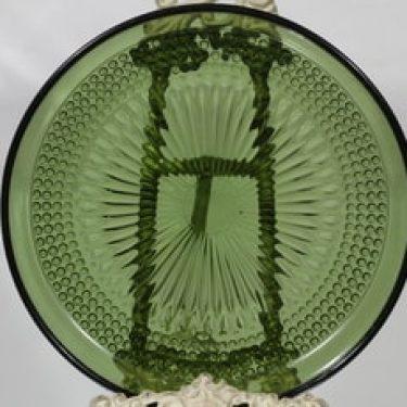 Riihimäen lasi Barokki vati, vihreä, suunnittelija Erkkitapio Siiroinen,