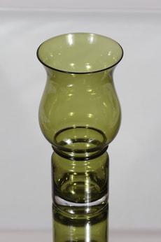 Riihimäen lasi Tulppaani maljakko, vihreä, suunnittelija Tamara Aladin,