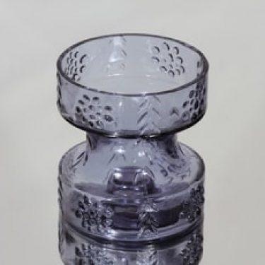Riihimäen lasi Mesimarja kääntömaljakko, neodymi, suunnittelija Tamara Aladin,