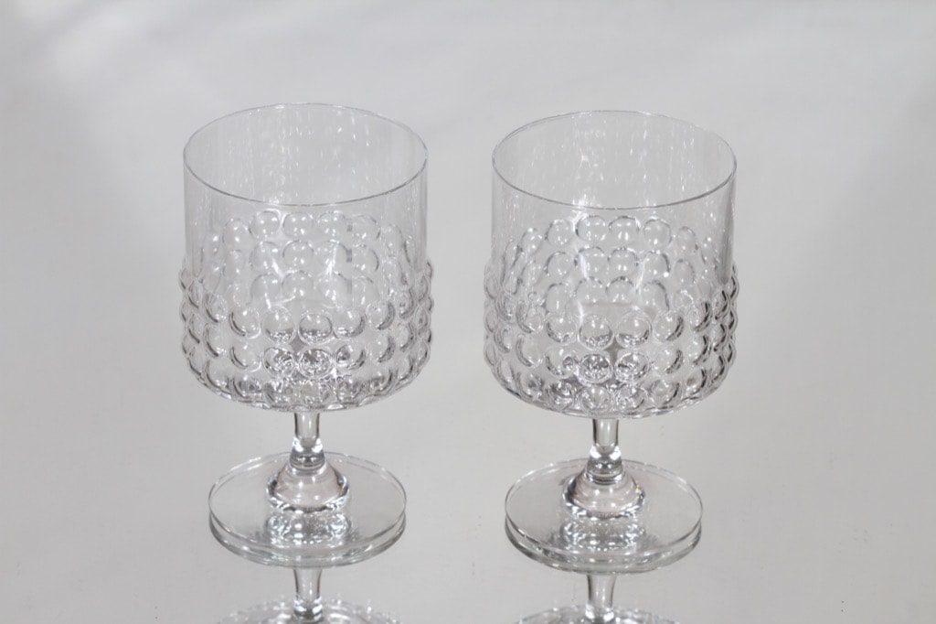 Riihimäen lasi Grappo punaviinilasit, kirkas, 2 kpl, suunnittelija Nanny Still,