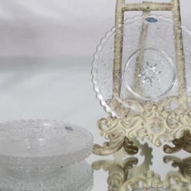 Nuutajärvi Apila lautaset, kirkas, 4 kpl, suunnittelija ,