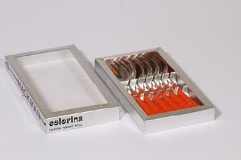 Hackman Colorina pienet haarukat, oranssi, 6 kpl, suunnittelija Nanny Still,