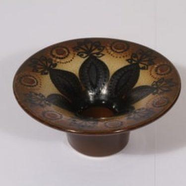 Arabia HLA 12O kynttilänjalka, ruskea, suunnittelija Hilkka-Liisa Ahola,