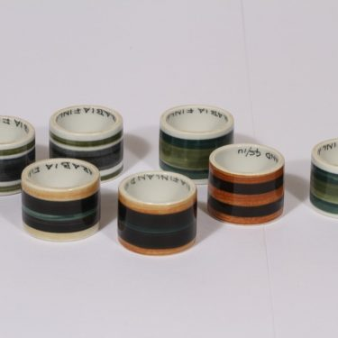 Arabia GS napkin ring, 7 pcs, designer Gunnel Sallmen