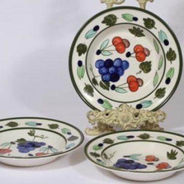Arabia Palermo lautaset, 3 kpl, suunnittelija Dorrit von Fieandt,