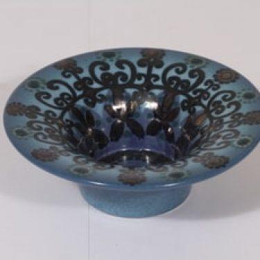 Arabia HLA 120 kynttilänjalka, sininen, suunnittelija Hilkka-Liisa Ahola,