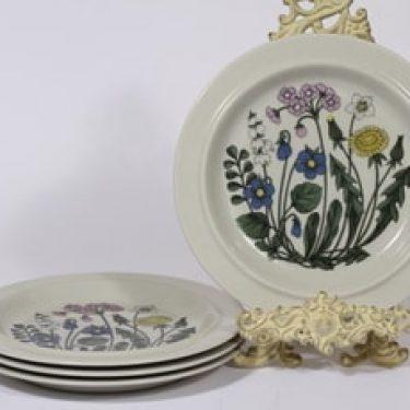 Arabia Flora lautaset, 4 kpl, suunnittelija Esteri Tomula,