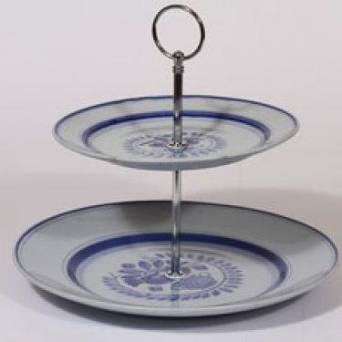 Arabia Blue Rose kerrostarjotin, sininen, suunnittelija Svea Granlund,