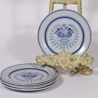 Arabia Blue Rose lautaset, sininen, suunnittelija Svea Granlund,